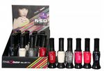 24 x Pink Tease Nail Art Pen and Brush | 6 Shades inc Black, Silver, Red & White